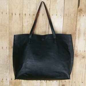 Under One Sky Black Tote Bag With Attached Wallet